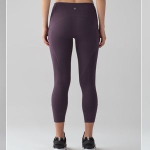 Lululemon All The Right Places Crop Black Currant